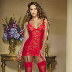 A little bit naughty red chemise