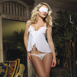 Flyaway babydoll and eye mask - babydoll and panty set