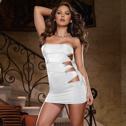 Side tie dress and thong - mini dress