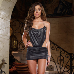 Shimmer dress and thong - mini dress