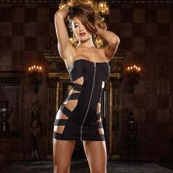 Bandeau dress and thong - mini dress