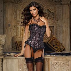 Monique corset and thong