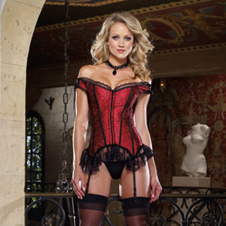 Francesca corset and thong