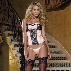 Anastasia corset and thong