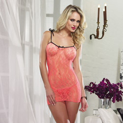 Stretch lace chemise set