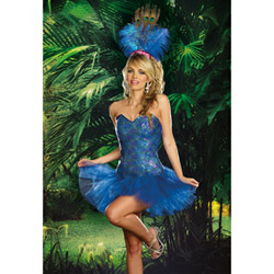 Peacock dress - sexy costume