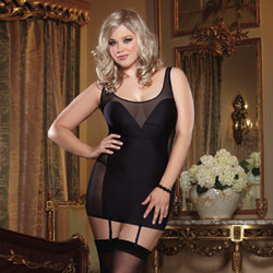 Seducing dancer garter slip queen size - chemise