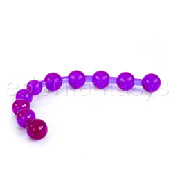 Purple anal jelly beads - sex toy