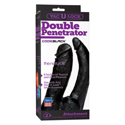 Realistic double ended dildo - Vac-u-lock double penetrator - view #2