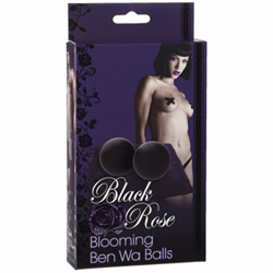 Vaginal balls  - Black rose blooming ben wa balls - view #2