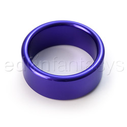 Blue metal cock ring xtra thick