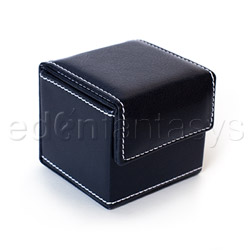 Black condom cube - sex toy storage