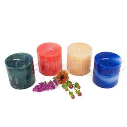 Marble swirl candle - Vela