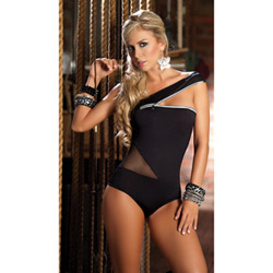 Romper with zipper sleeve - teddy