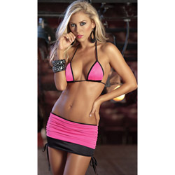 Pink two tone two piece set - bra and panty set