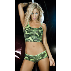 Camouflage short and cami set - camisole set