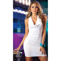 White cross back dress - mini dress