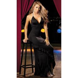 Black long gown - maxi dress