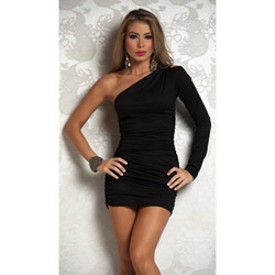 One shoulder silhouette - mini dress
