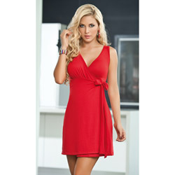 Red elegant dress - mini dress