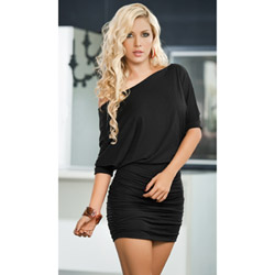 Black off shoulder dress - mini dress