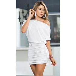 White off shoulder dress - mini dress