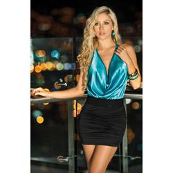 Blue and black dress - mini dress