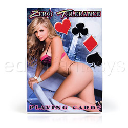 Adult game - Zero tolerance playing cards - view #2