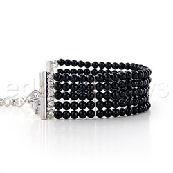 Wrist cuffs - Plaisir nacre black pearl cuffs - view #2