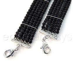 Wrist cuffs - Plaisir nacre black pearl cuffs - view #3