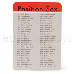 Adult game - Position sex card deck - view #3