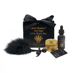 Olivia's boudoir black bag - massage oil kit