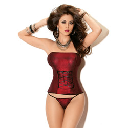 Midnight fire lattice corset