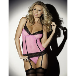 I love pink bustier set