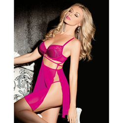 Cut out babydoll and G-string - babydoll and panty set
