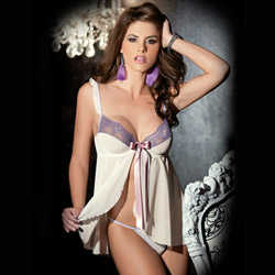 Spring meadow fly-a-way babydoll - babydoll and panty set