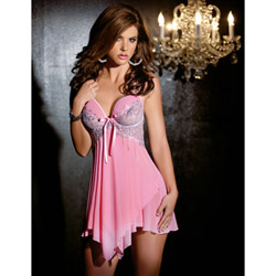 Sweet bouquet clip babydoll - babydoll and panty set