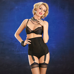 Vintage hi-waist set with hose - bra and panty set