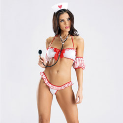 Heart nurse with stethoscope - sexy costume