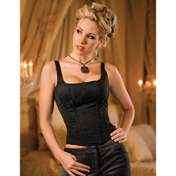 Black side-zip corset
