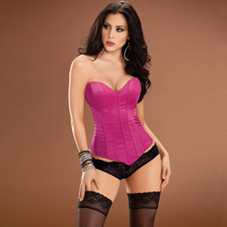 Hot pink Tesa`s sweetheart corset