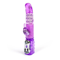 Rabbit vibrator with rotating beads - Lilac rabbit G - view #3