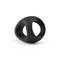 Silicone prolonger ring - cock and balls dual ring