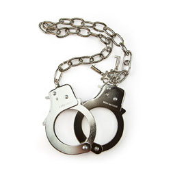 Police style handcuffs - Metal handcuffs with chain - view #3