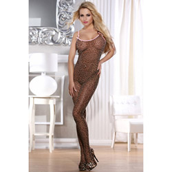 Leopard bodystocking