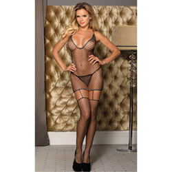 Sparkle fishnet bodystocking
