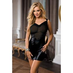 Spice wet and sheer dress - mini dress