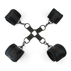 Wrist and ankle cuffs  - Soft touch hog tie with 4 cuffs - view #4