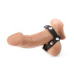 Leather ball divider - cock ring