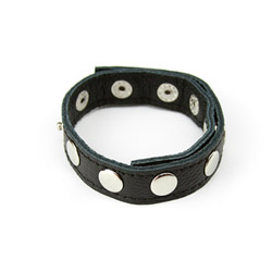 Macho style leather cock ring - cock strap